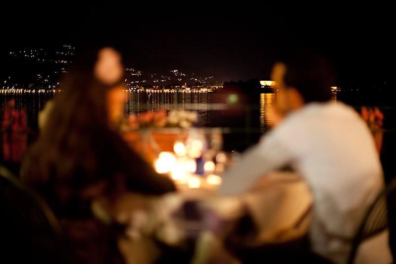 Cena lume di candela Lago Maggiore isola